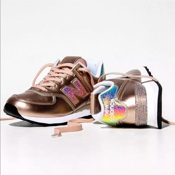 limited sale detailed images special selection of New Balance 574 ROSE GOLD LIMITED EDITION! Glitter